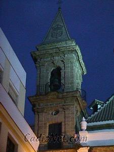 Cadiz:Vista crepuscular del campanario